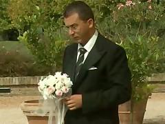 The bride has great fun