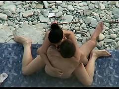 Couple caught having sex on the beach