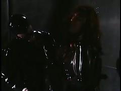 Latex Mistress Beats Her Sobbing Slave
