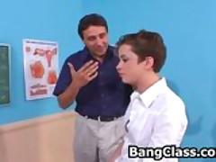 Shy teen girl seduced by the teacher