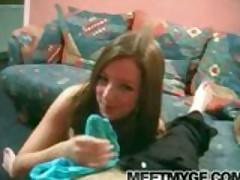 Big boobs teen blows boyfriend