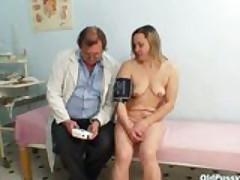 Old granny mature Jaroslava pussy speculum exam