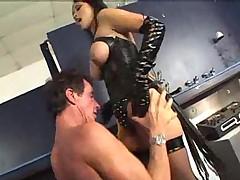 Mika Tan manhandles two cocks