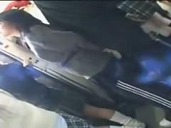 JPN Handjob on a Public Train