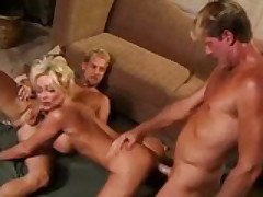 MILF Fucks Men While Husband Works