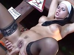 Sexy Nun Renata Black Sits On A Cock And Slams Her Ass