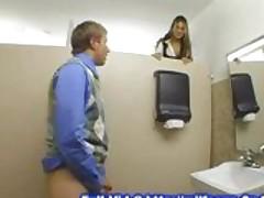 Office bathroom fuck
