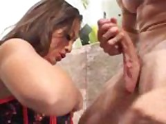 Gianna Lynn inhales a huge cock