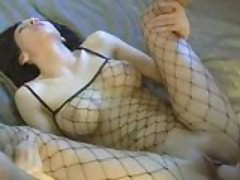 Sexy Lani Lane fucks in fishnets