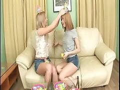 Gorgeous Teen twins in anal fucking Enjoy