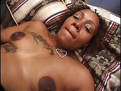 Horny Tattooed Ebony Prego Passion