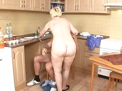 Mom Serves Up Pussy In The Kitchen