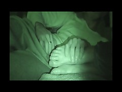 Unconcious sister footjob
