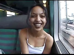 In the Public Train Toilet