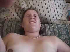 5 months pregnant trailer park chick gets creampied.