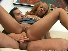 Melrose Slut Ebony Pounded Hard by Huge Cock
