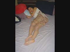 Asian in Pantyhose Part2