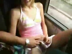 Naughty on bus
