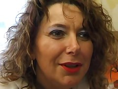 Ugly mature big ass bbw french anal blowjob salope troia takes hard cock in the ass all the way tits