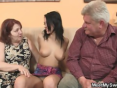 BF finds her GF fucking his family
