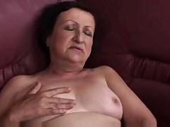 Chubby Granny Plays together with Fingers